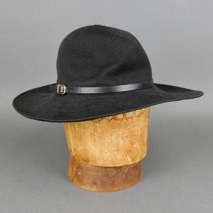 Black Wide-Brim Sun Hat